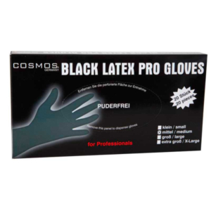 MEX black latex gloves