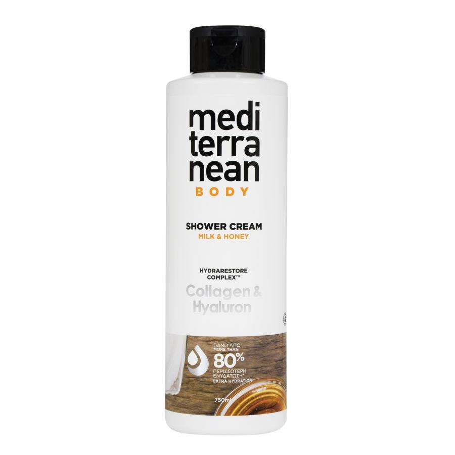 MEDITERRANEAN shower cream MILK & HONEY 750 ml
