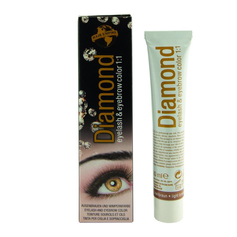 DIAMOND color eyelash & eyebrow light brown 30 ml
